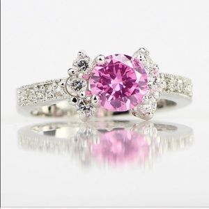 🌸New Princess Cut 3CT Pink Sapphire Ring🌸